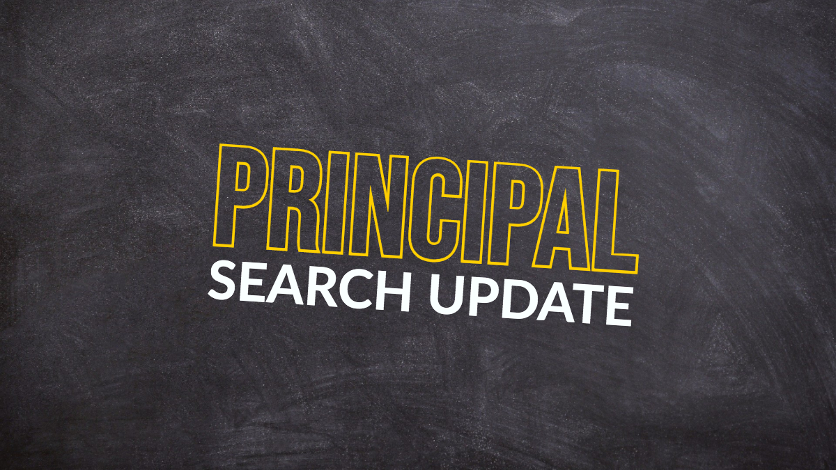 Principal Search Update: Focus Groups to Begin in the New Year