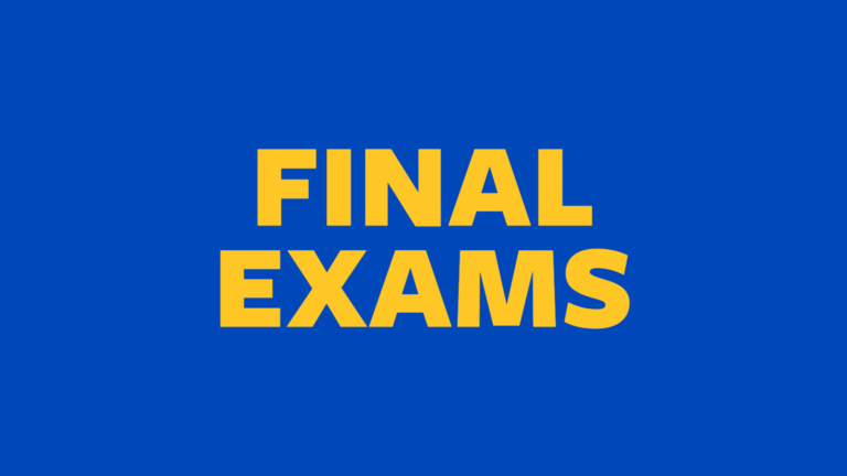 Fall 2020 Final Exam Schedule
