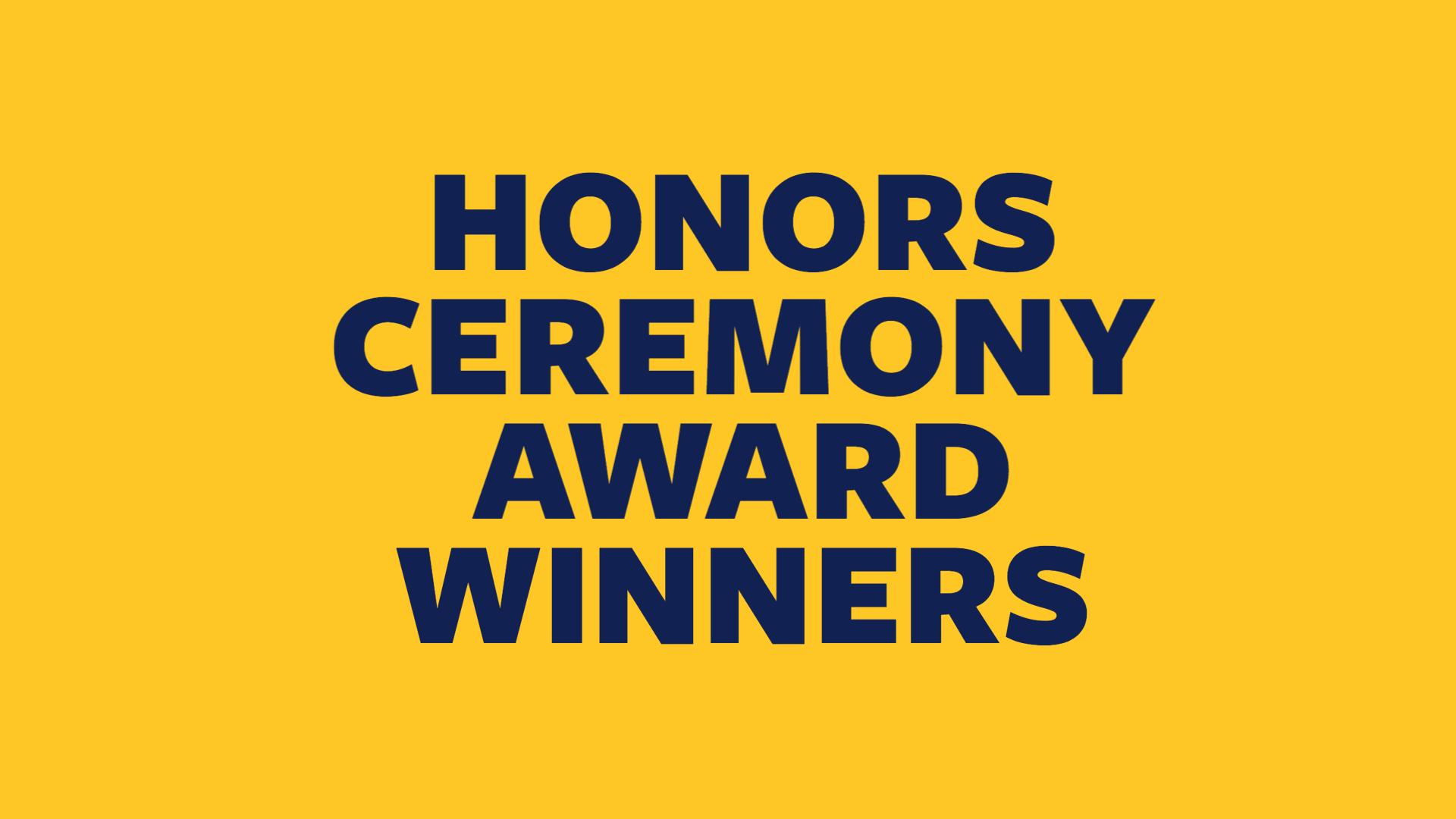 Honors Ceremony Winners